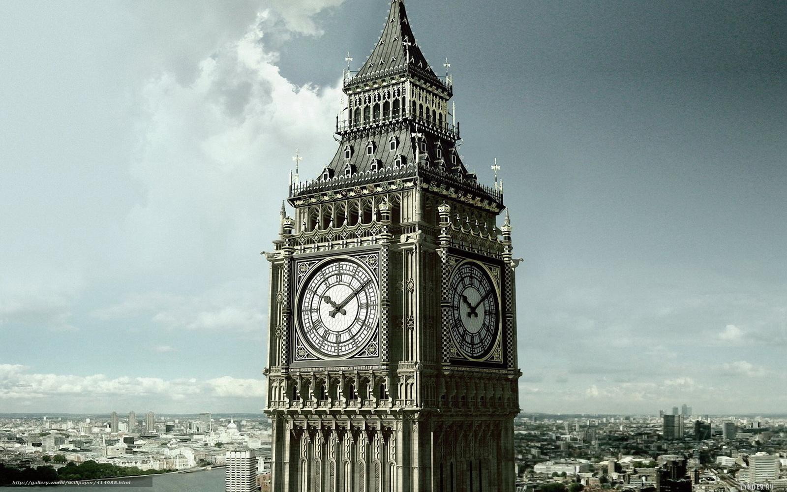 Лондон британия часы город башня