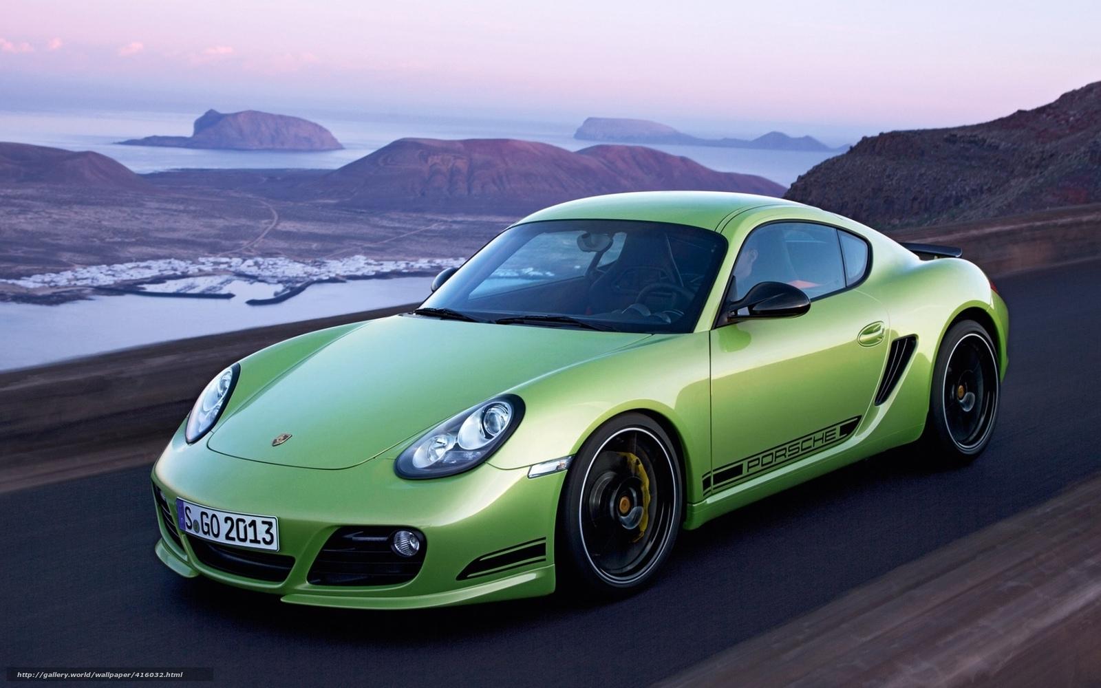 Baixar Wallpaper Verde Carro Estrada Porsche Papis De