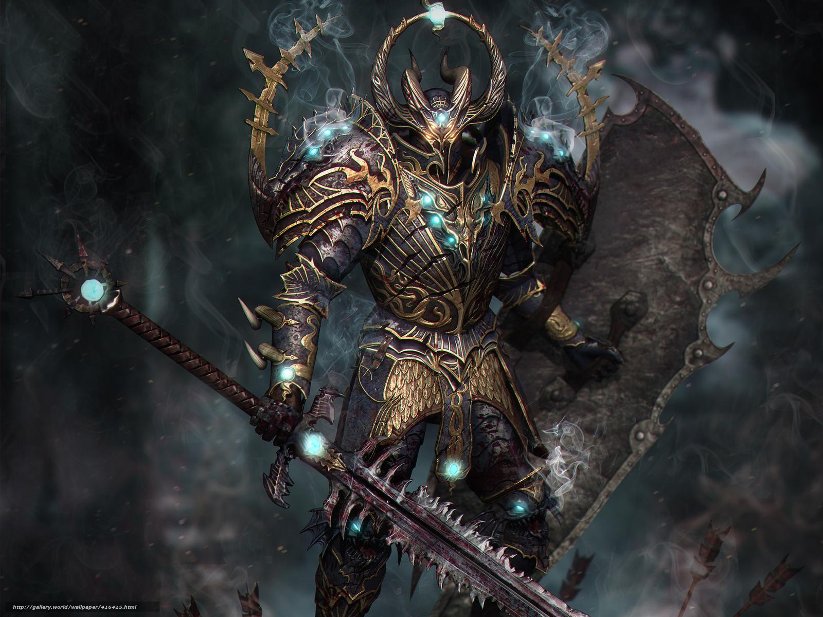 Tlcharger Fond d'ecran chevalier, magie, armure, brlure aux yeux Fonds ...