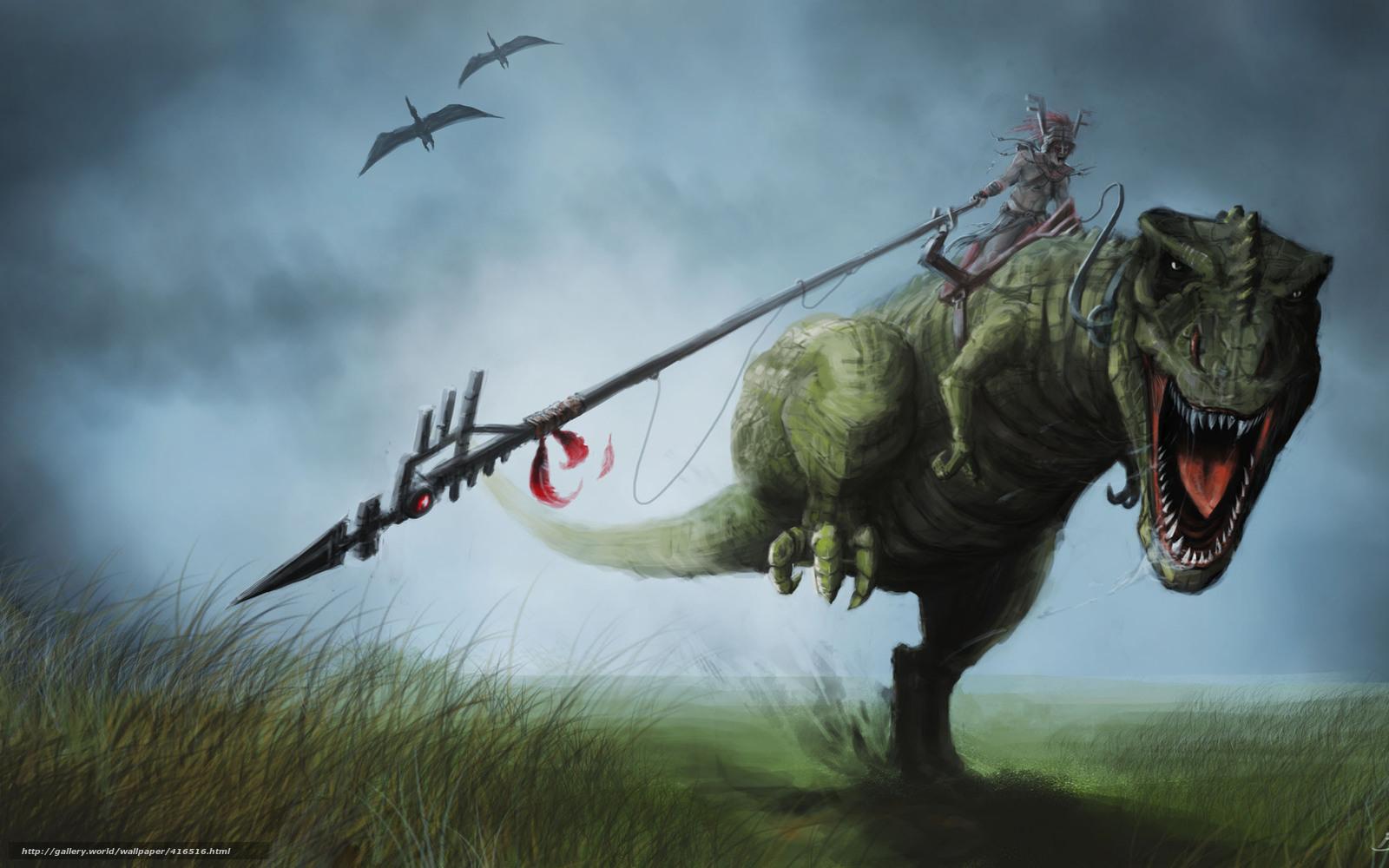 download wallpaper art dinosaur rex grass free desktop