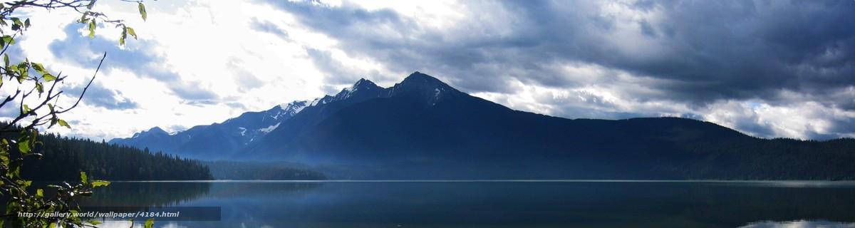 Download Wallpaper Mountains Water Forest Free Desktop