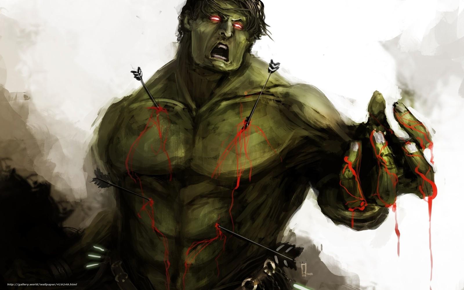Download wallpaper hulk, monster, beast, Marvel free desktop wallpaper
