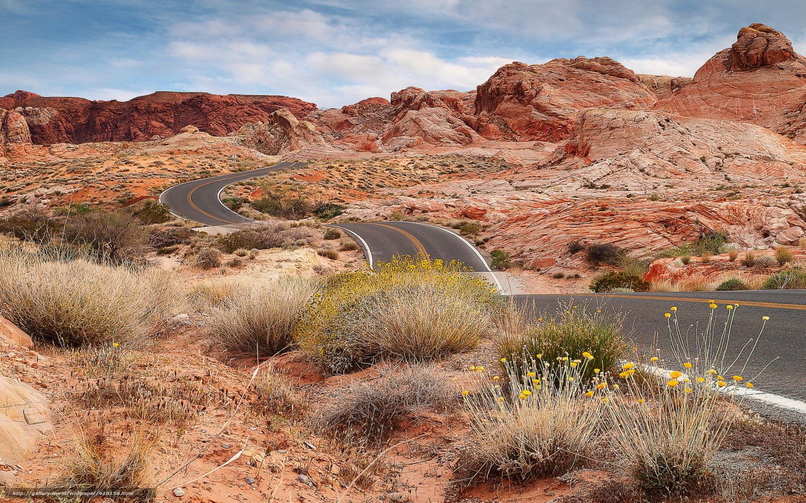 Scenic Highways Download Wallpaper Road Rocks Arizona Landscape Free