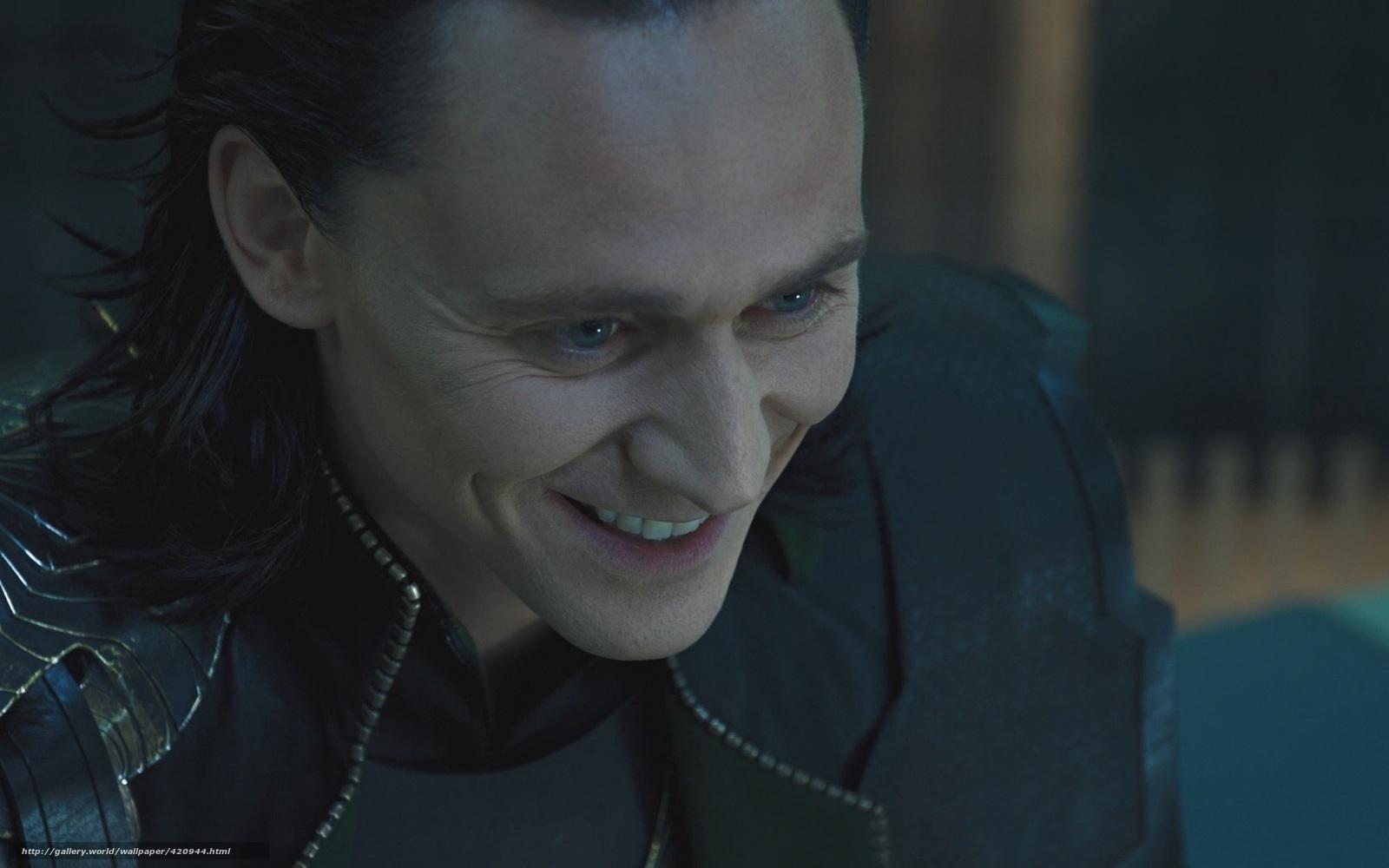 Download Wallpaper Loki, Actor, Tom Hiddleston Free