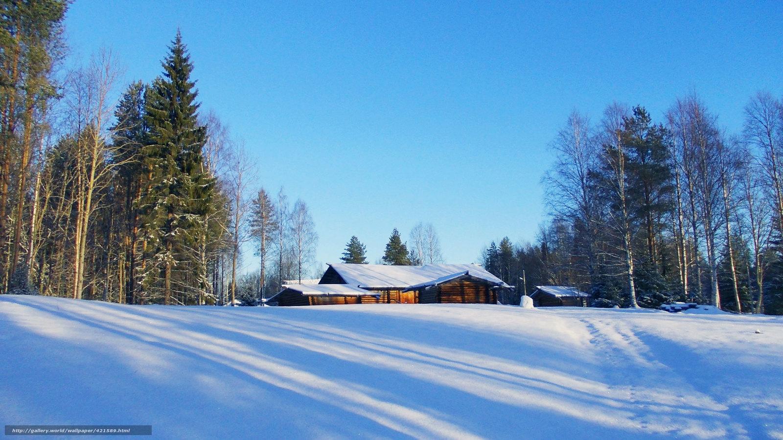 Pobra tapety krajobrazy zima nieg drzew darmowe tapety for Sfondi gratis desktop inverno