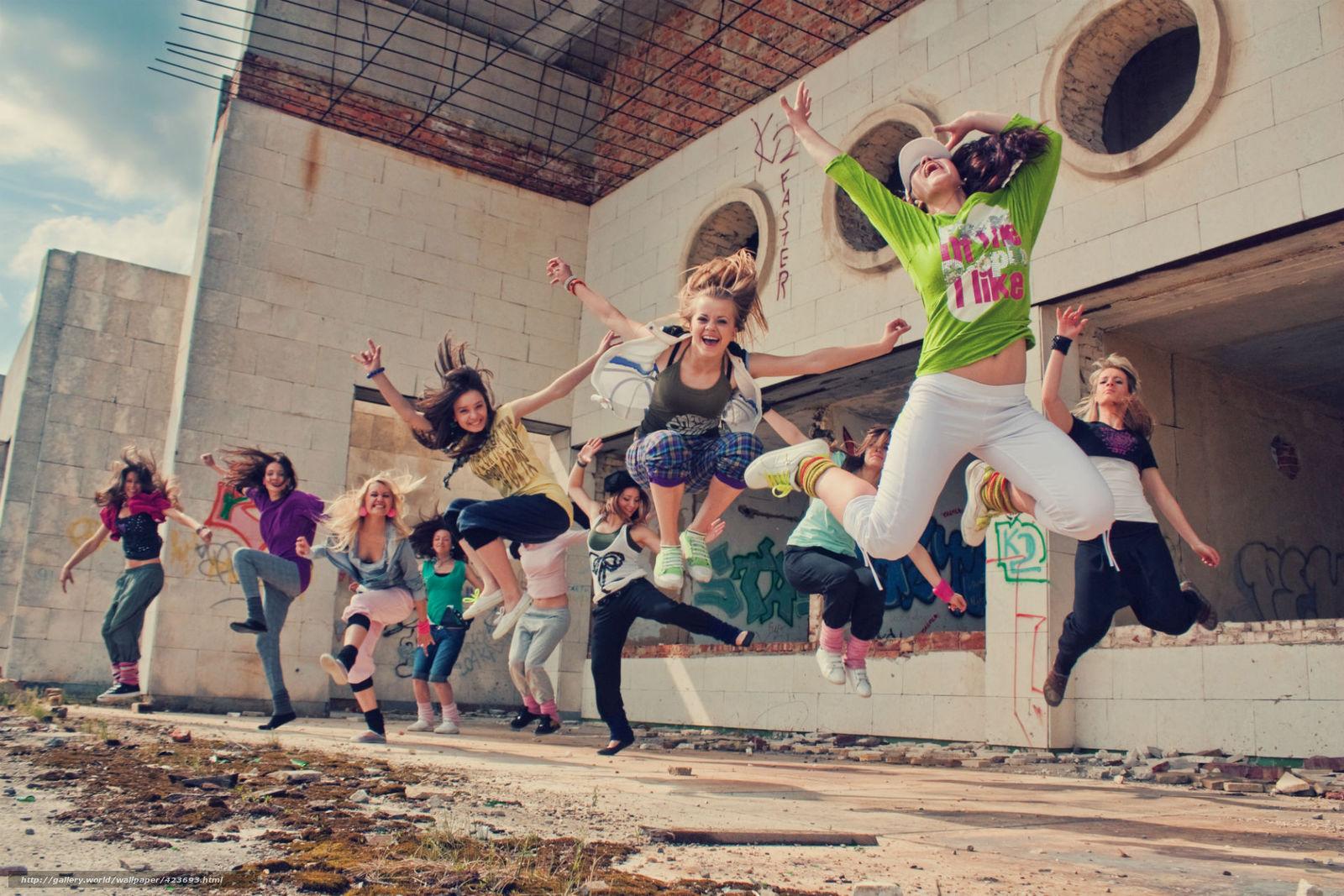 nia, alegra, personas, felicidad, Situaciones, Saltando, saltar, en el ...