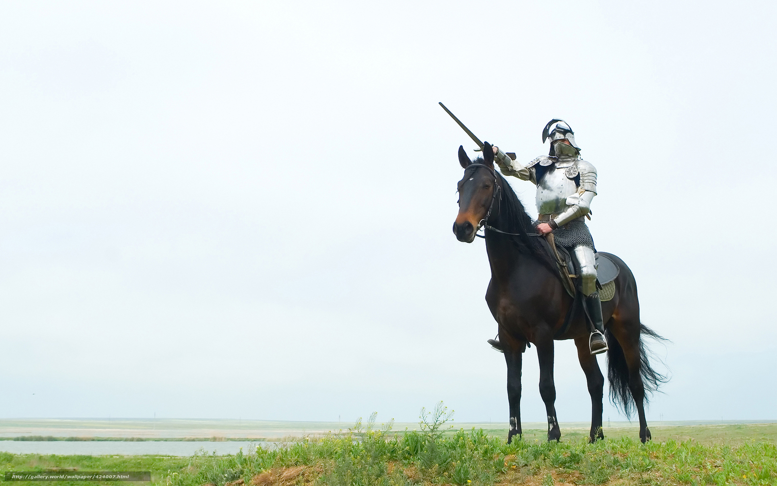 Download wallpaper horse, knight, sword, armor free desktop wallpaper in the ...  Knight