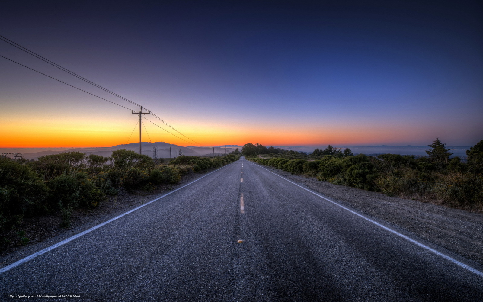 Road Sunset Wallpaper Download wallpaper sun...