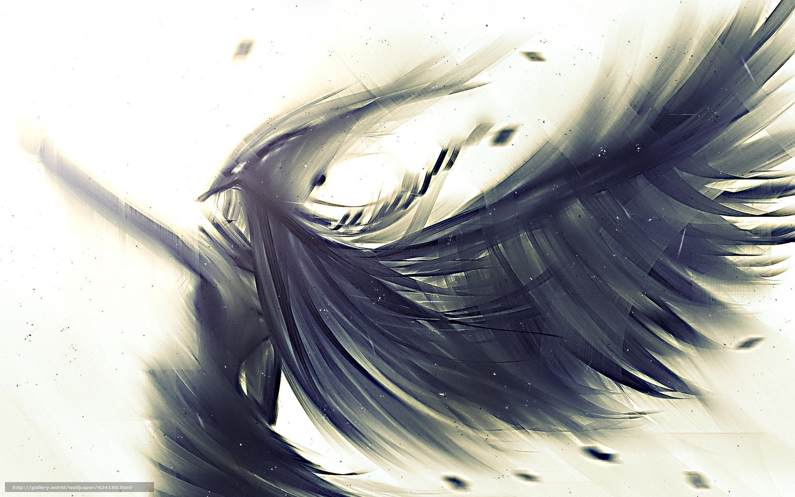 Скачать обои арт, рисунок, крылья ...: ru.gde-fon.com/download/art_risunok_krylya_perya_angel/424180...