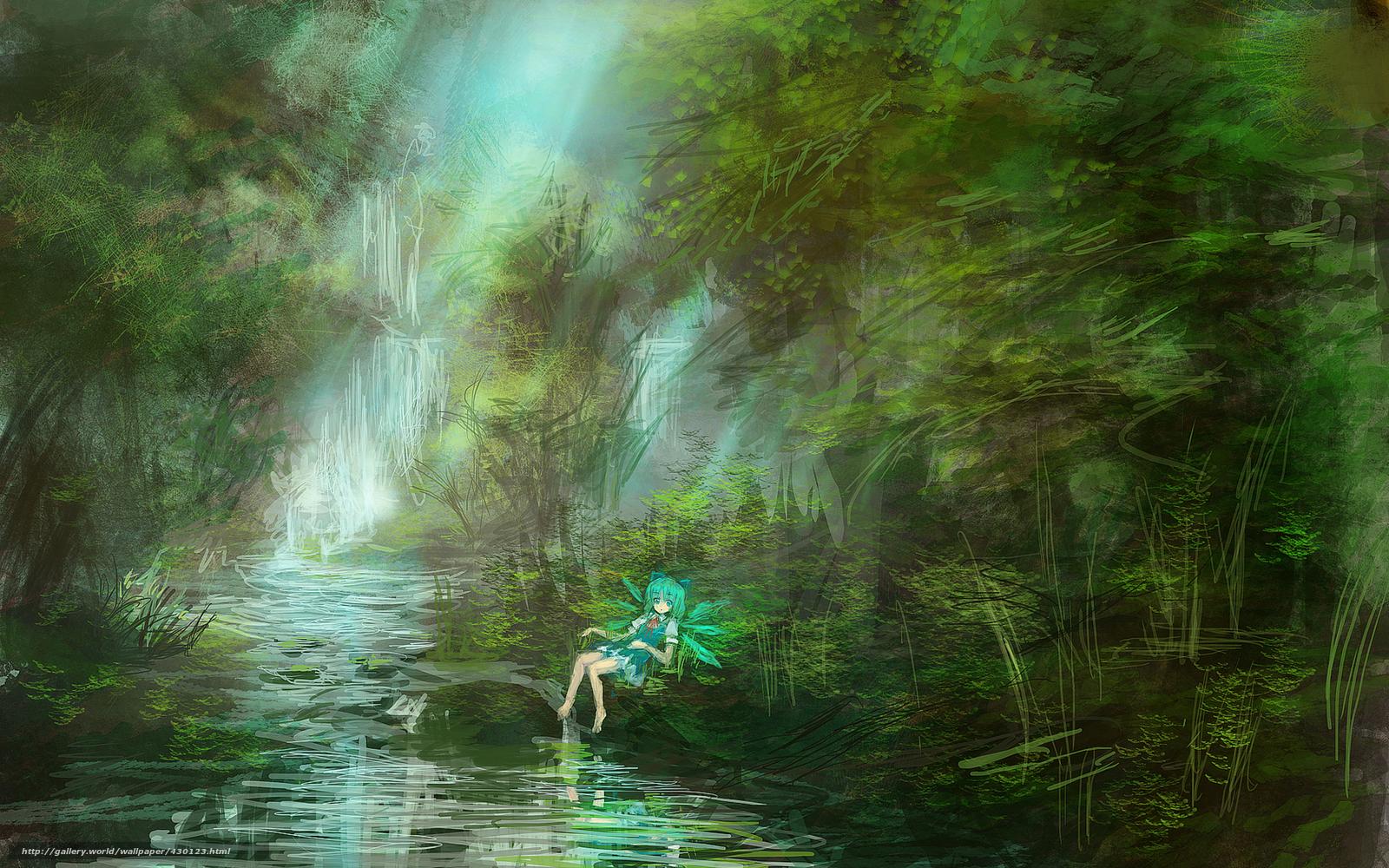 Арт аниме лес