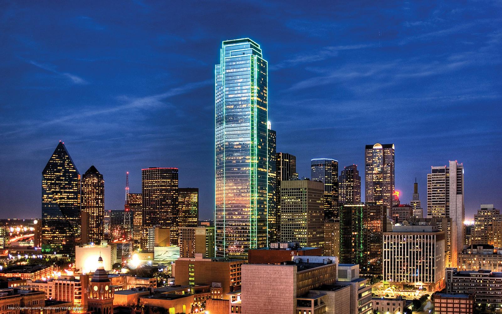 Download wallpaper USA Texas Dallas city free desktop wallpaper in HD Wide Wallpaper for Widescreen