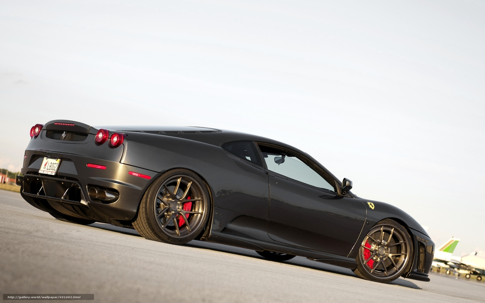 Download Wallpaper Ferrari Dark Gray Back View Cds Free