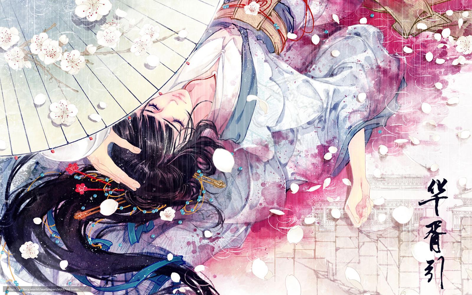Скачать обои Девушка,  зонт,  кровь,  рука бесплатно для рабочего стола в разрешении 1680x1050 — картинка №432766