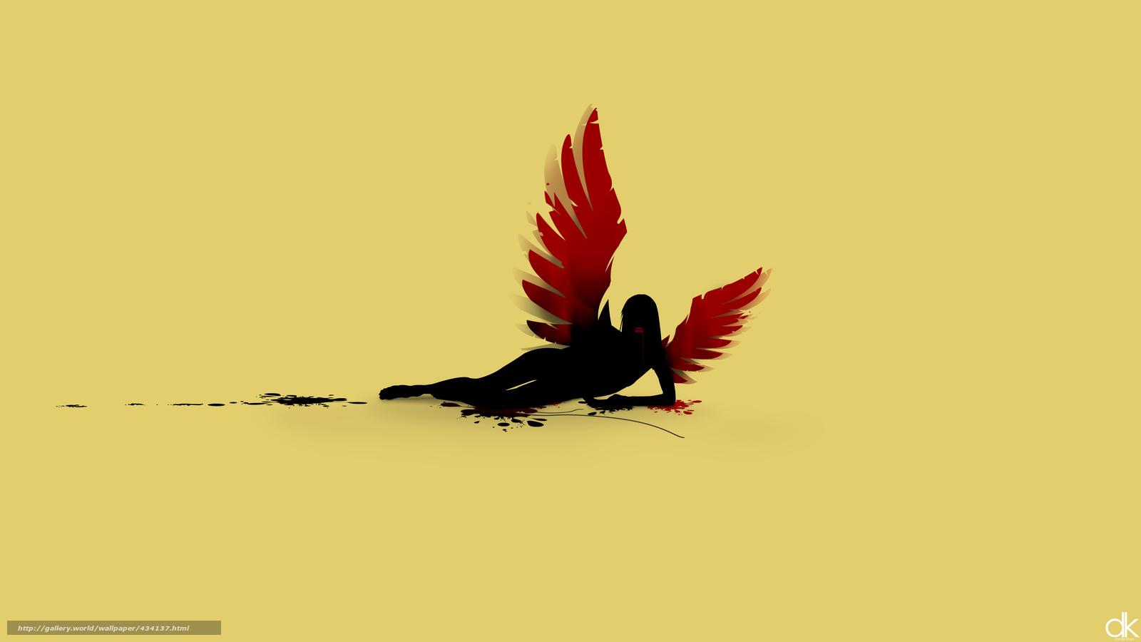Download Wallpaper Girl, Wings, Angel Free Desktop