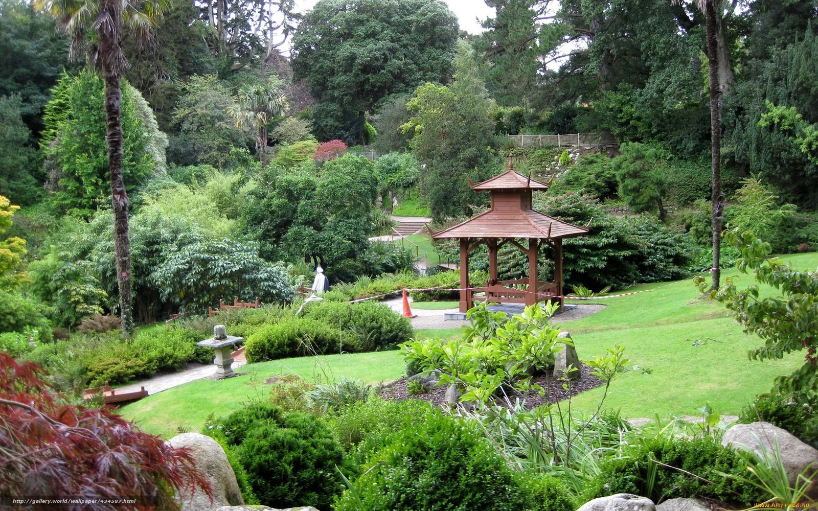 Обои парк сад беседка деревья