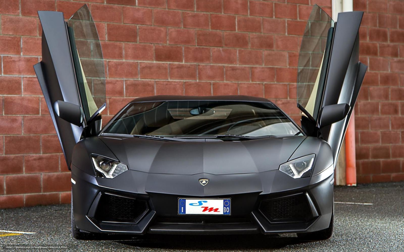 Descargar Gratis Lamborghini Aventador Negro Mate HD Wallpapers Download free images and photos [musssic.tk]