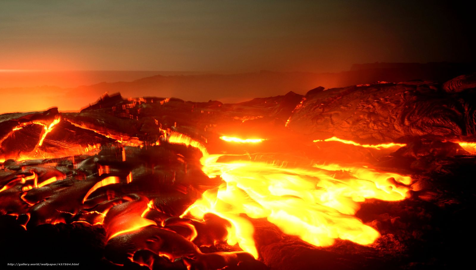 download wallpaper hell lava incandescent landscape