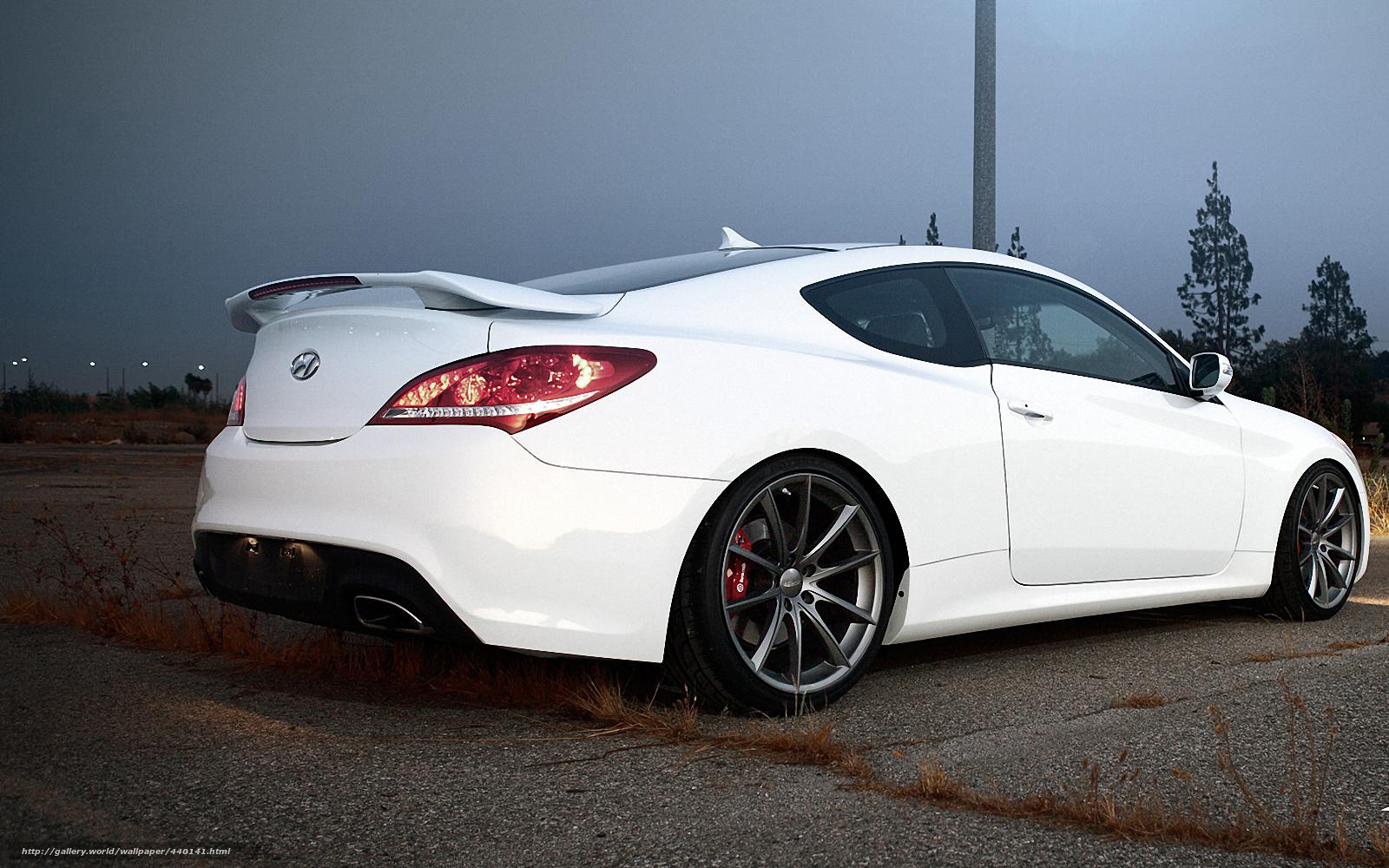 White genesis coupe image