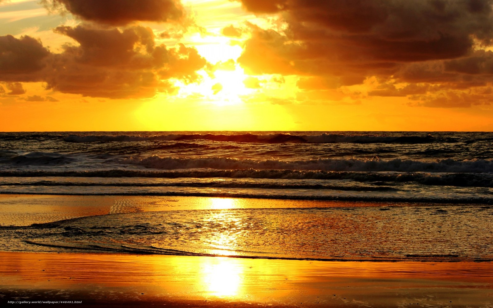 закат, море, берег, песок,...