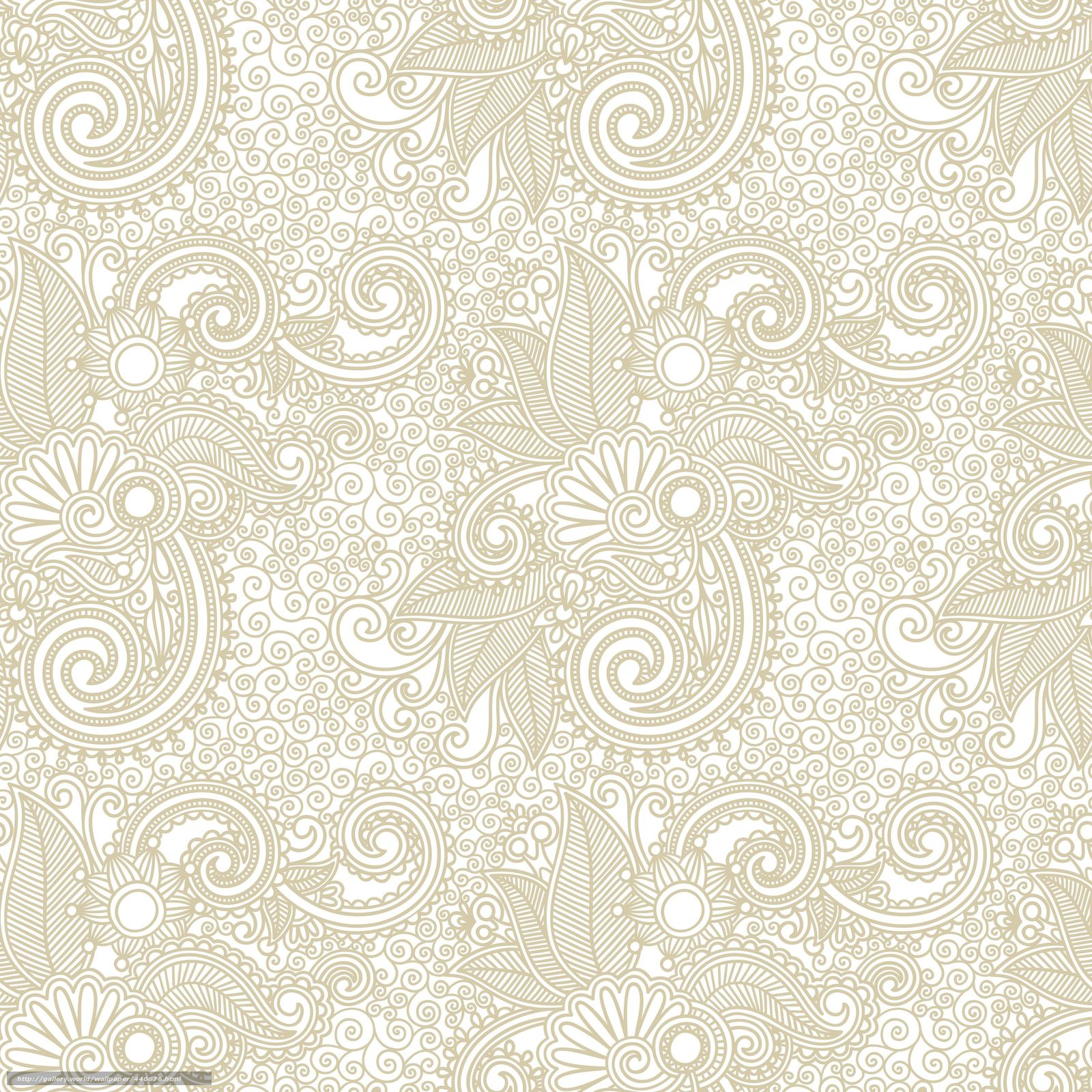 Download wallpaper Vintage, patterns, ornament, lace free