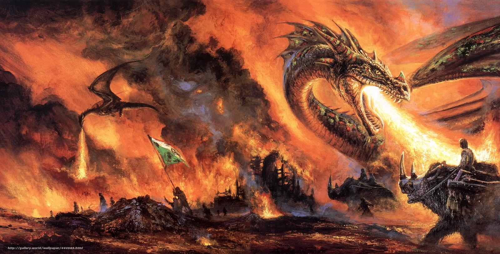 Download Wallpaper Art Fantasy Dragon Free