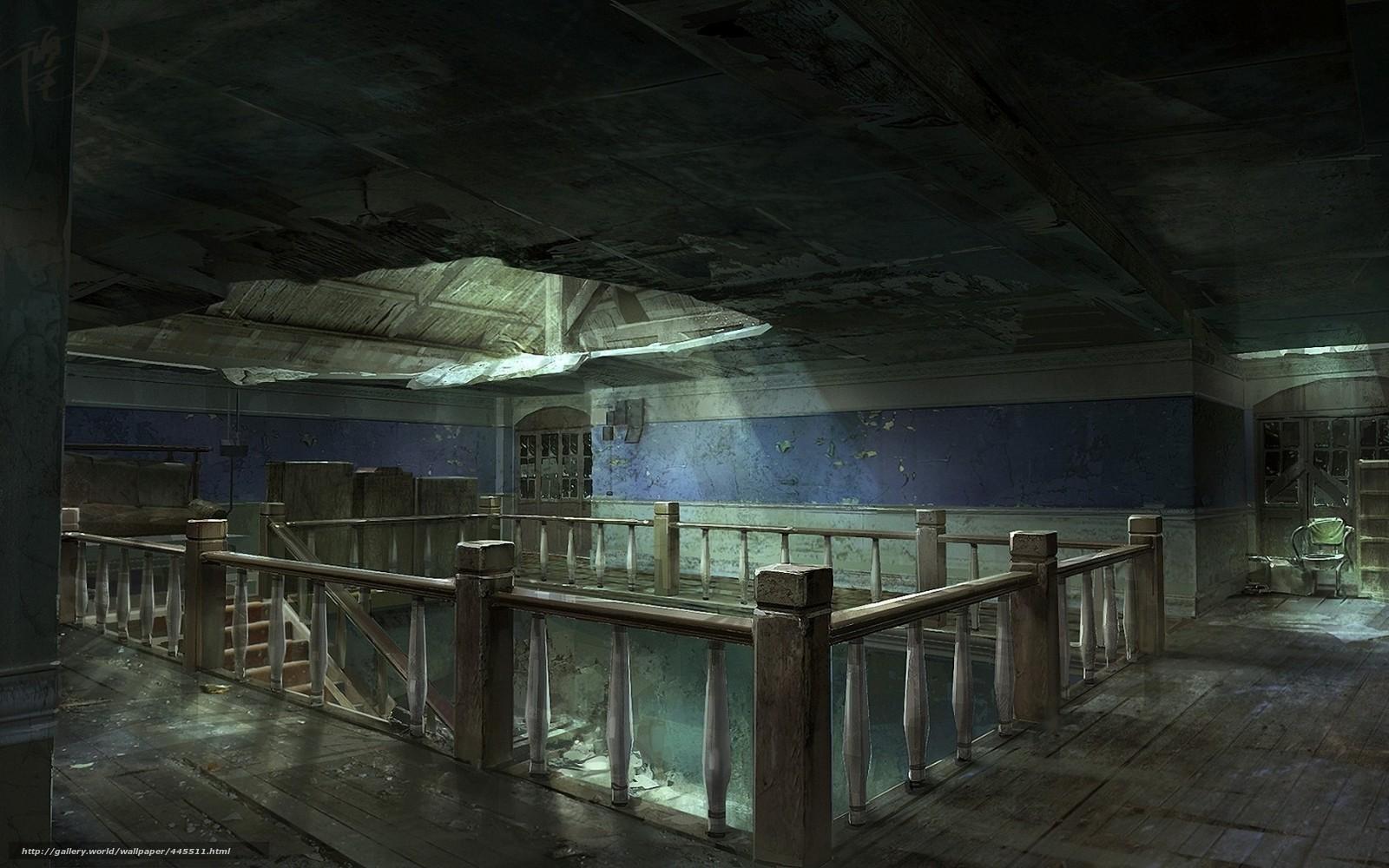 Mansion Interior 壁紙をダウンロード 芸術 建物 荒廃 廃墟 デスクトップの解像度のための無料壁紙 1680x1050 絵