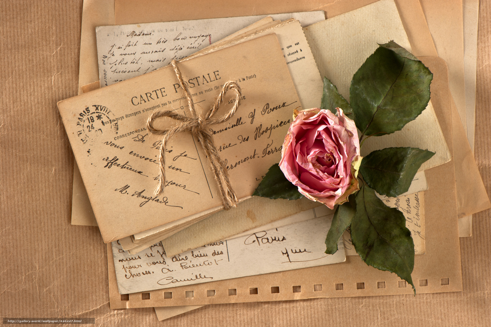 Download Wallpaper Vintage Retro Flower Rose Free