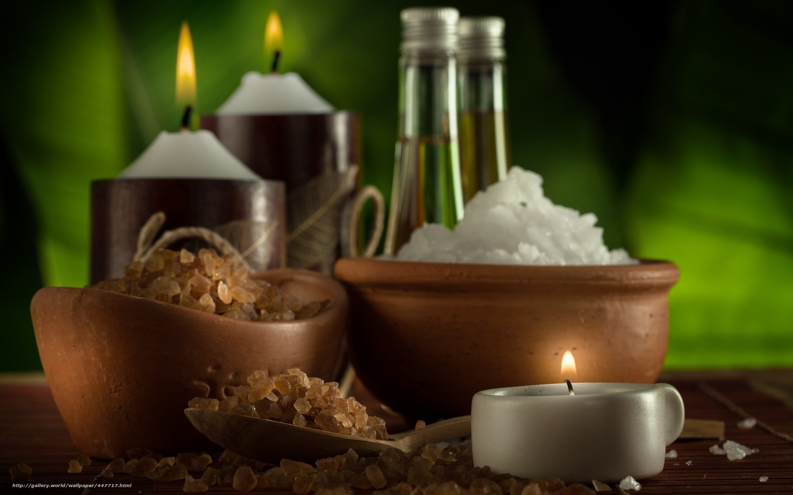 Download wallpaper spa bowls salt candle free desktop for Salon wallpaper