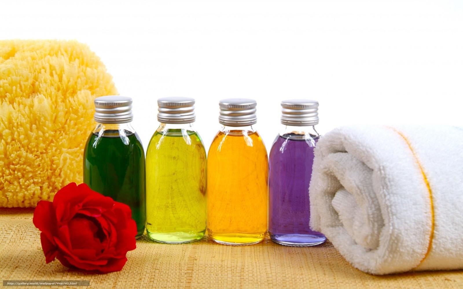 Download wallpaper spa, butylki, flower, towel free desktop wallpaper ...