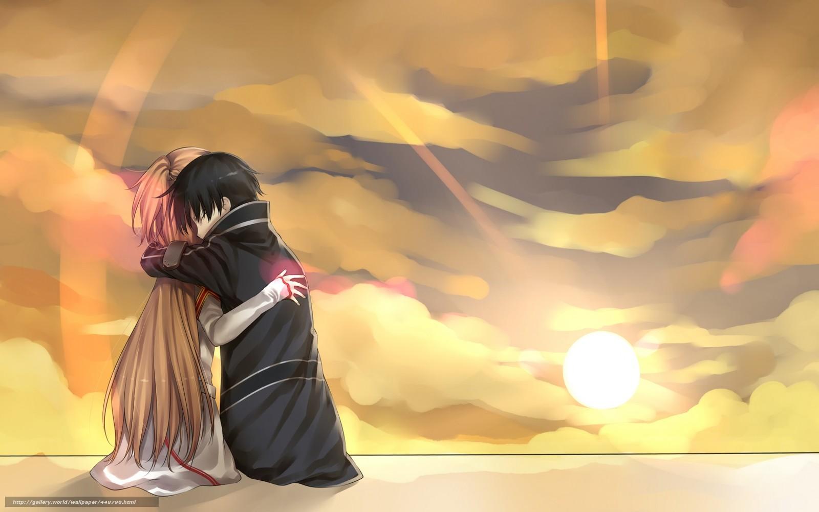 Волосы девушка чёрные волосы аниме