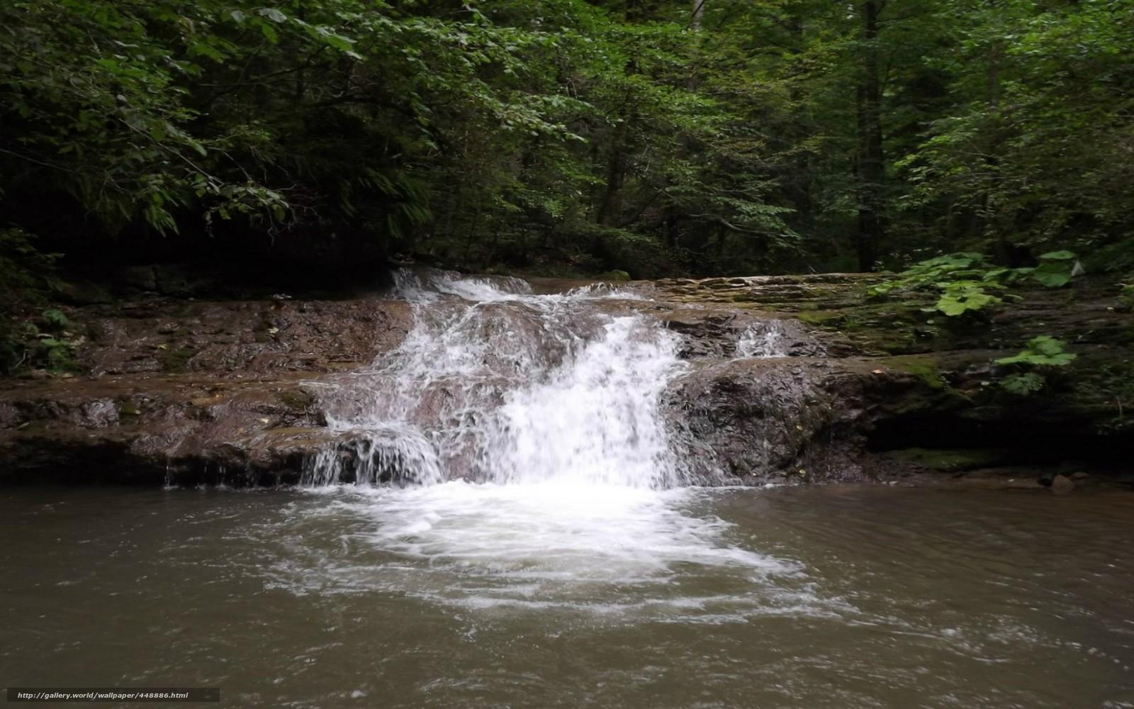 Скачать обои природа водопад вода