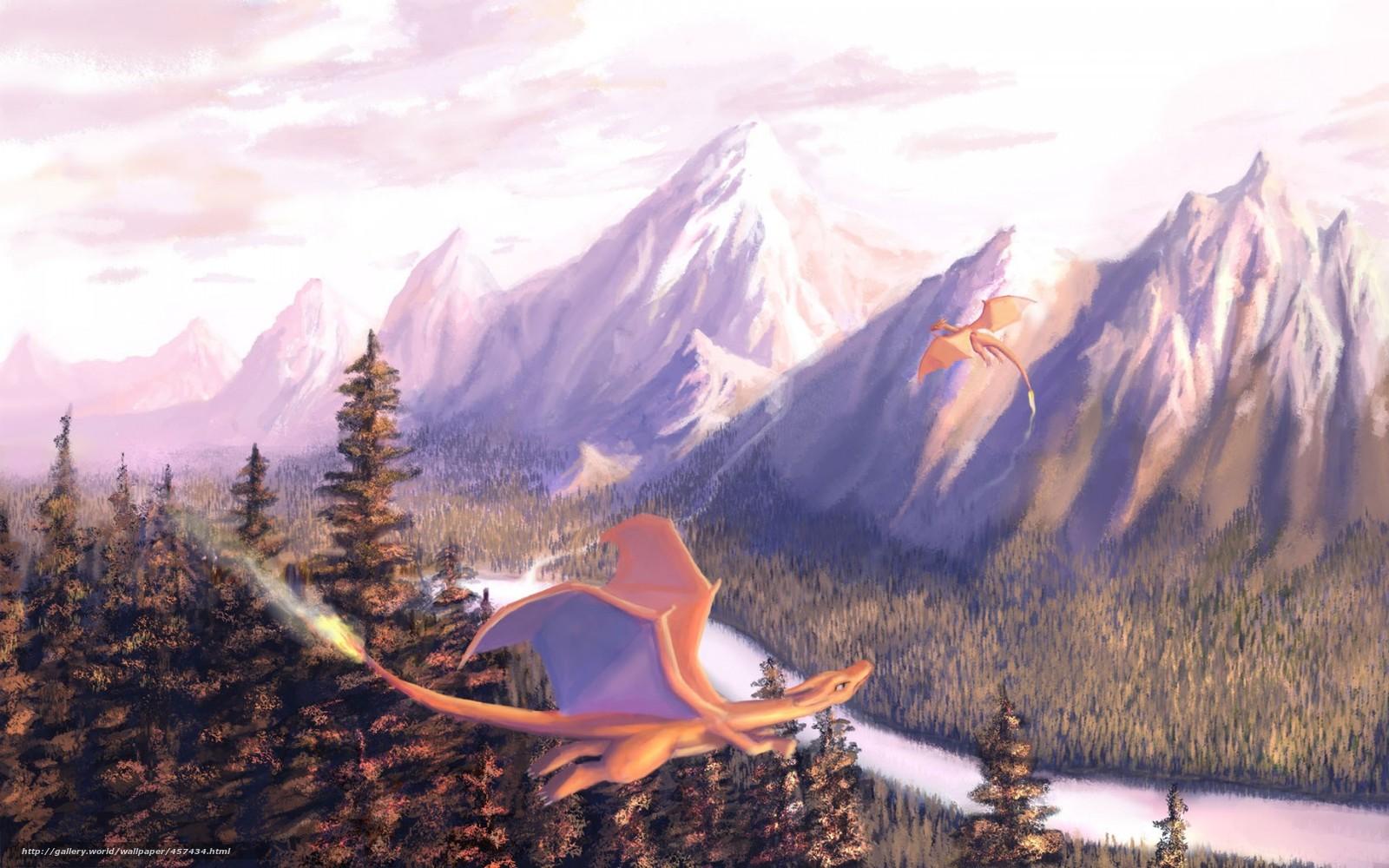 pobra tapety Sztuka, Gry, Dragons, las Darmowe tapety na pulpit