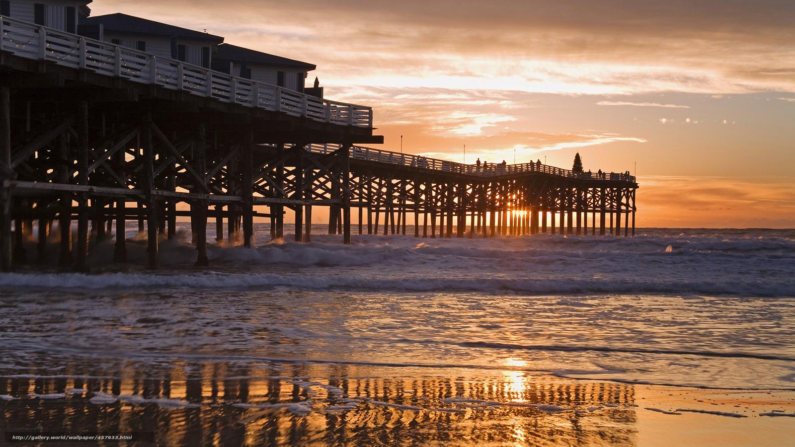 Download wallpaper pier california beach san diego free for Pier fishing san diego