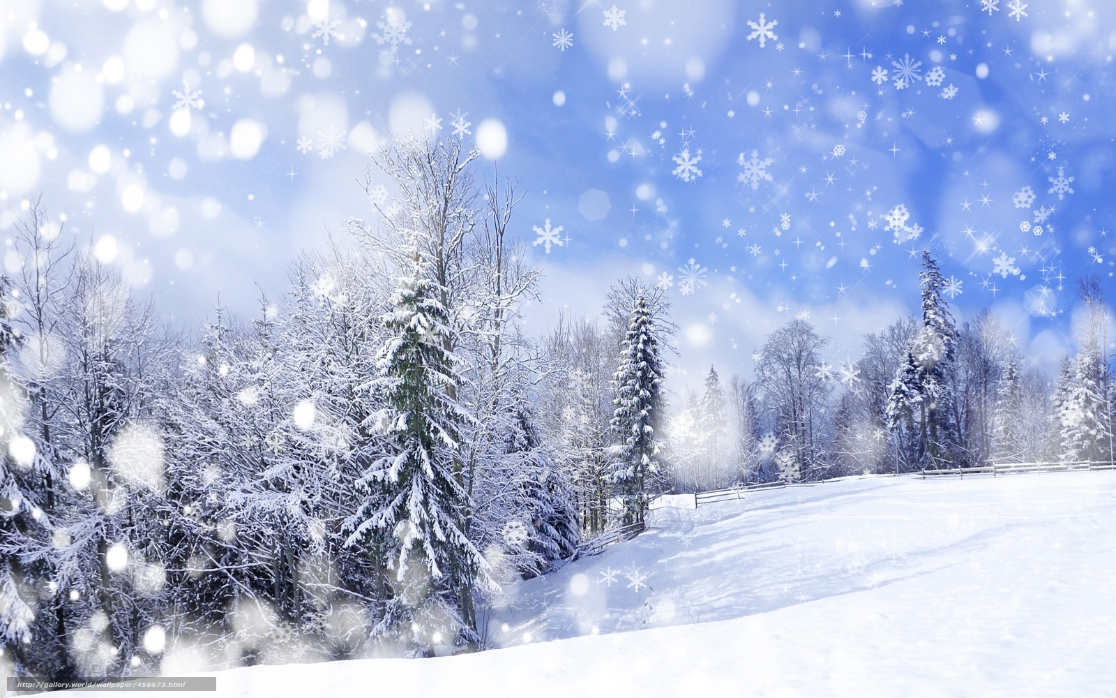 Обои природа пейзаж деревья зима