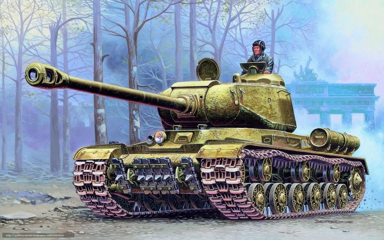 Download hintergrund bild, schwere panzer, joseph stalin, rote armee