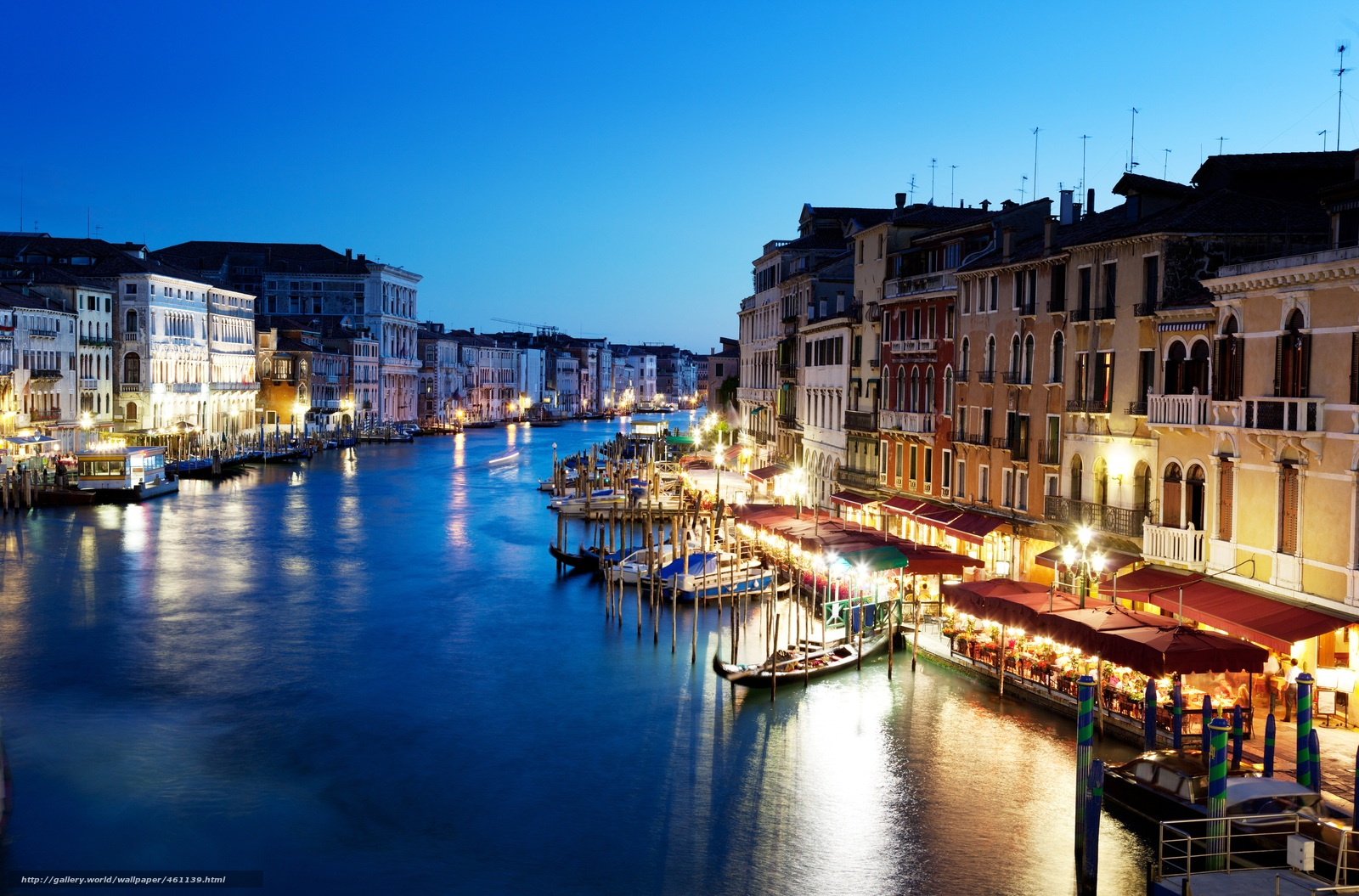 Download wallpaper The Grand Canal, Venice, Italy, canal grande