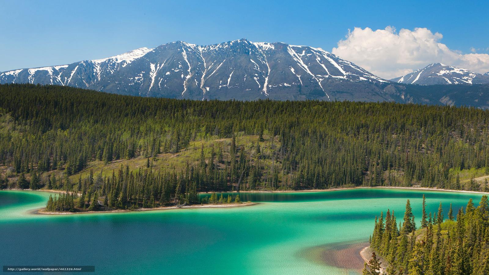 download wallpaper mountains lake alaska trees free
