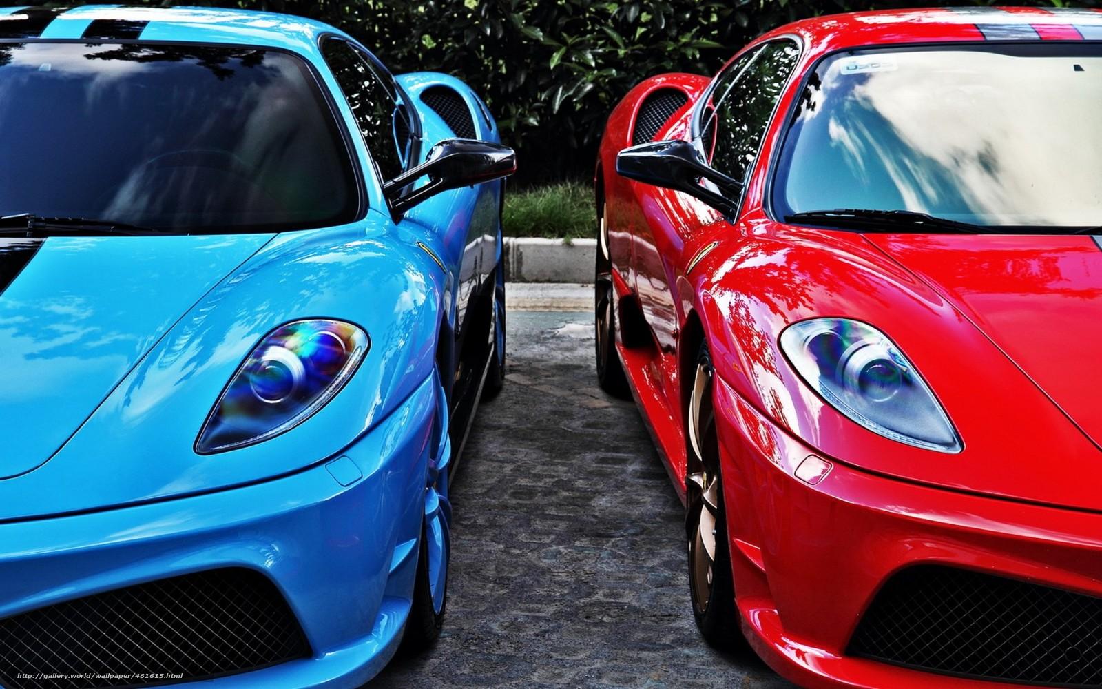 Delightful Blue Sports Cars #2: 461615_krasnyj_goluboj_ferrari_sportkary_Ferrari_1680x1050_(www.GdeFon.ru).jpg