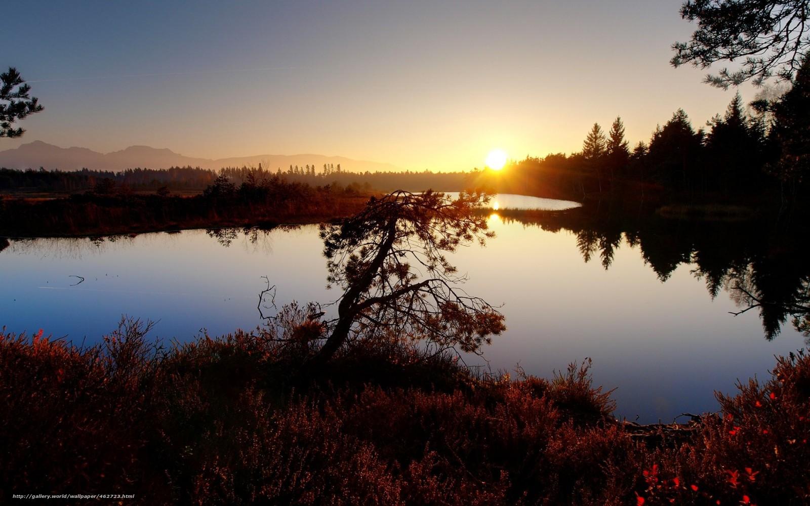 1440x900 sunset lake desktop - photo #38