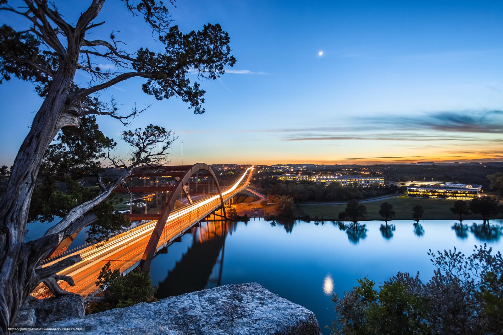 download wallpaper bridge texas moon river free desktop