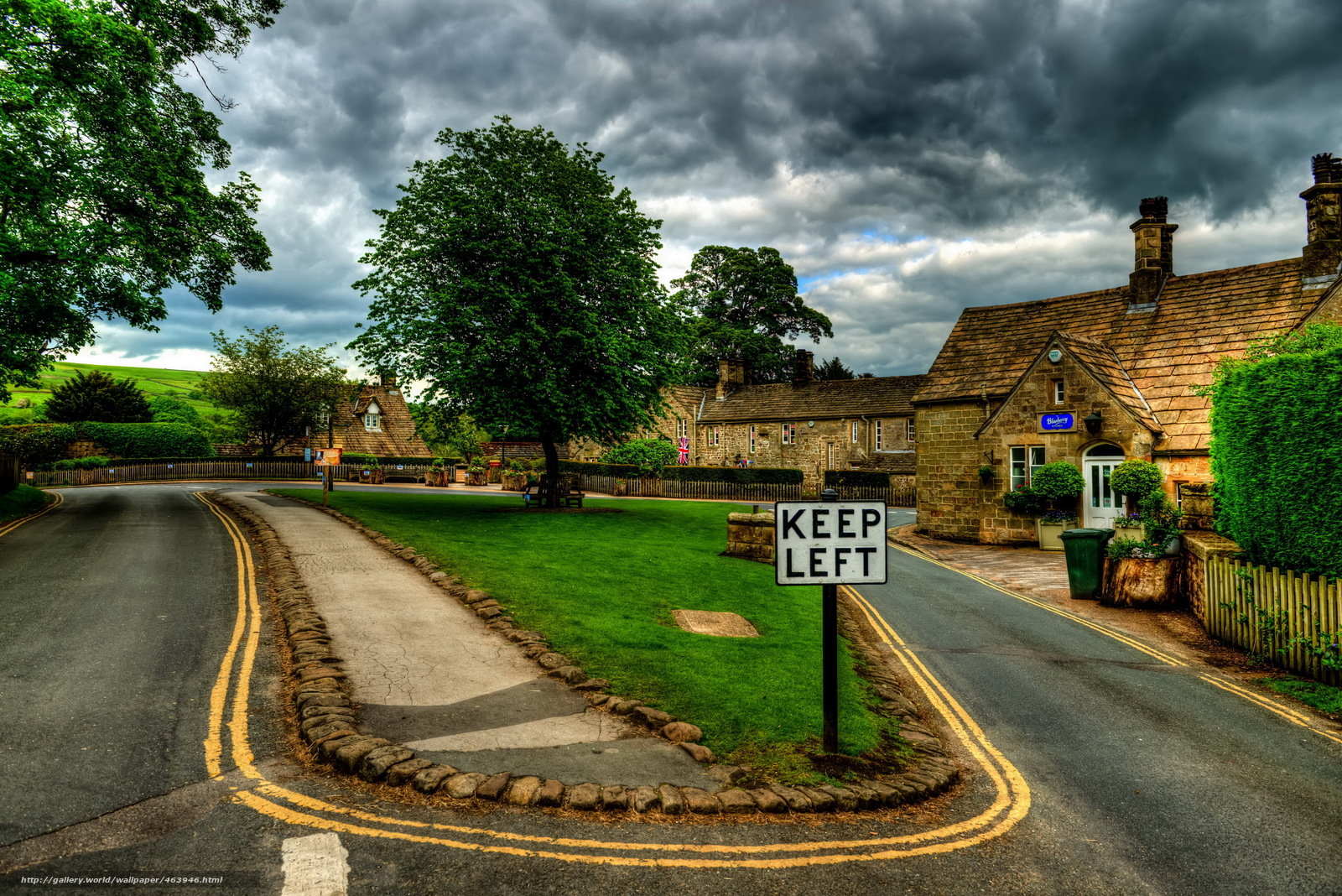 Bolton United Kingdom  City new picture : Download wallpaper United Kingdom, road, bolton abbey village ...
