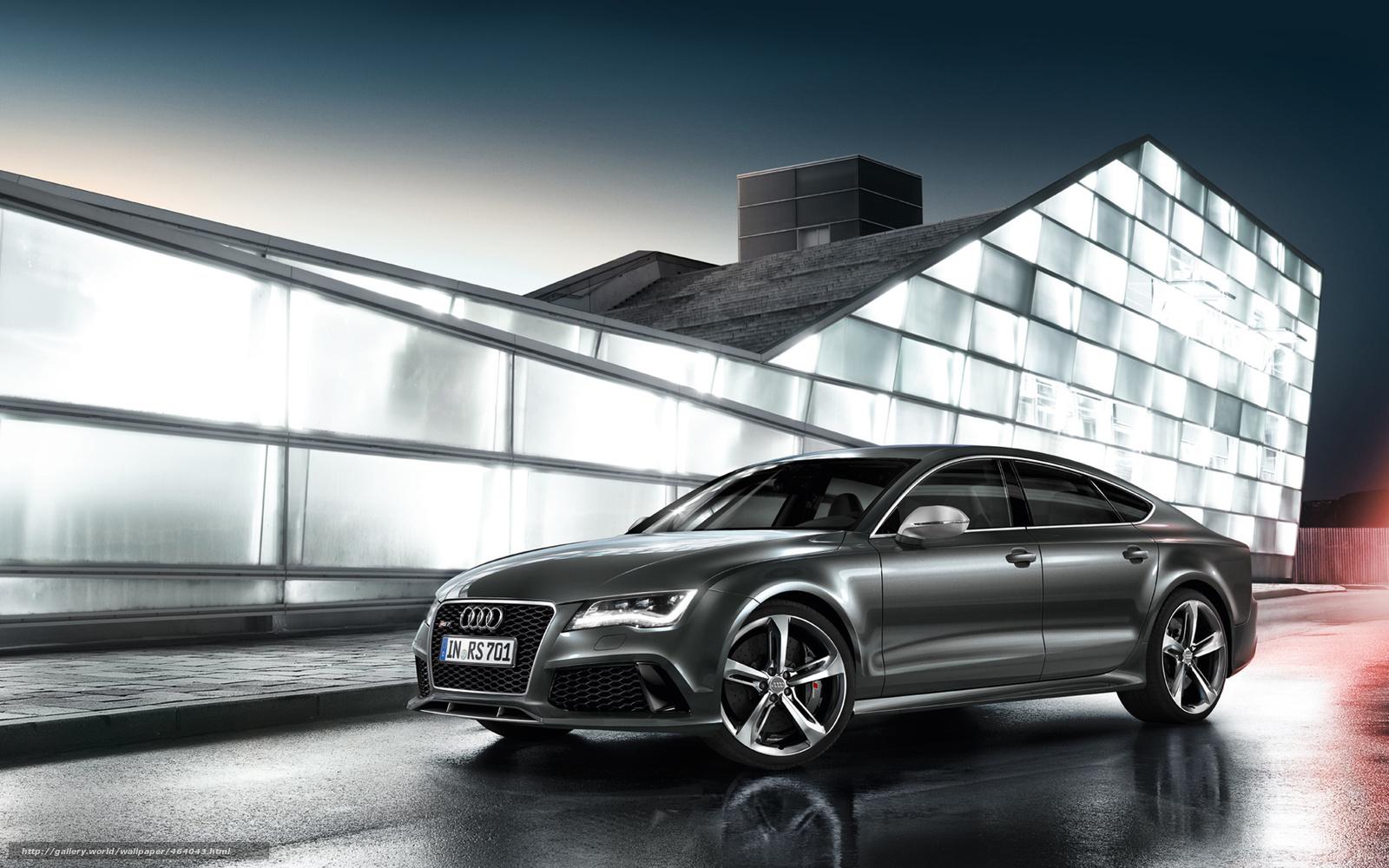 Download Hintergrund Audi Rs7 Sportback Grau Freie