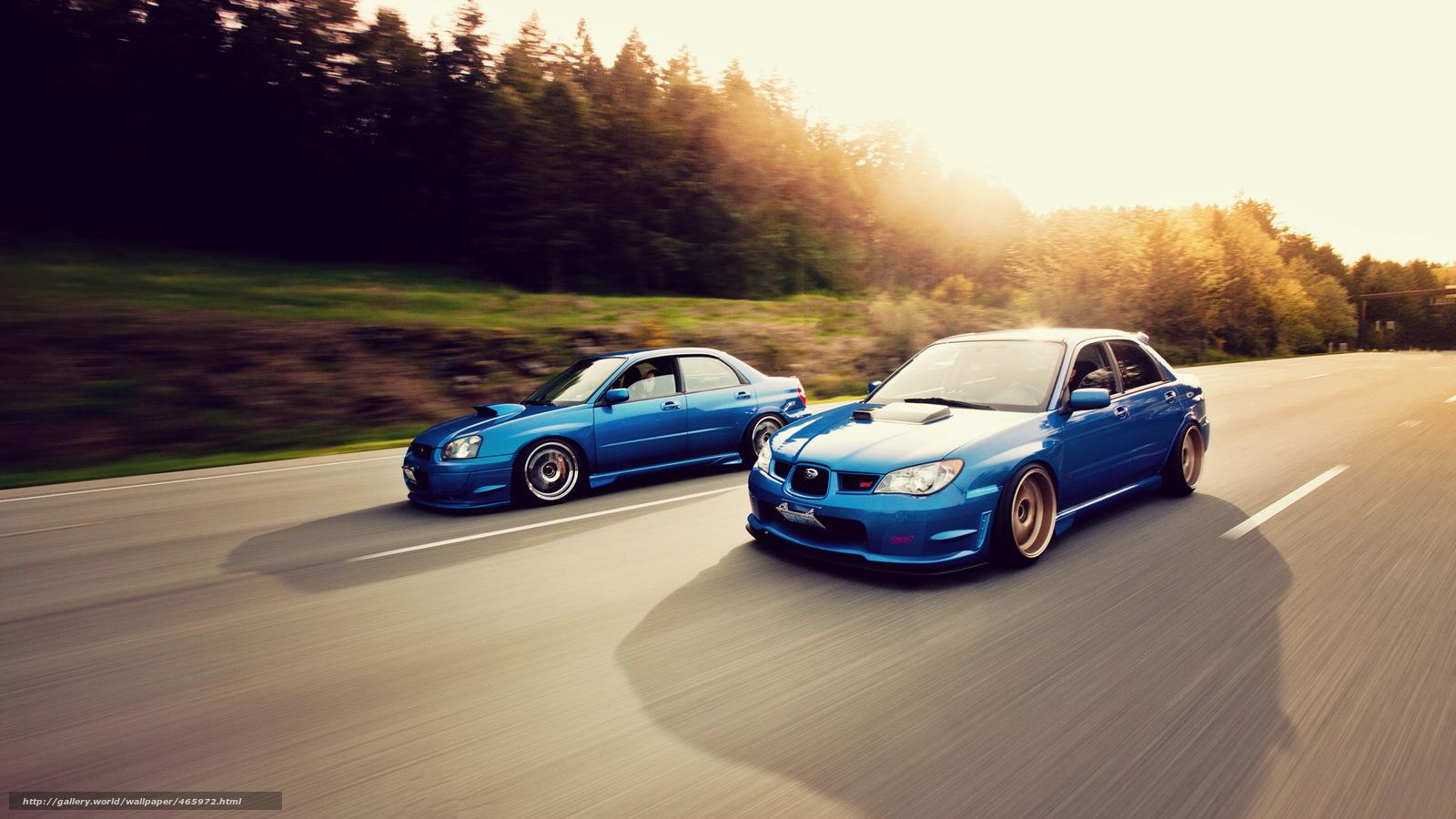 Download Wallpaper Subaru Tuning In Motion Subaru Free