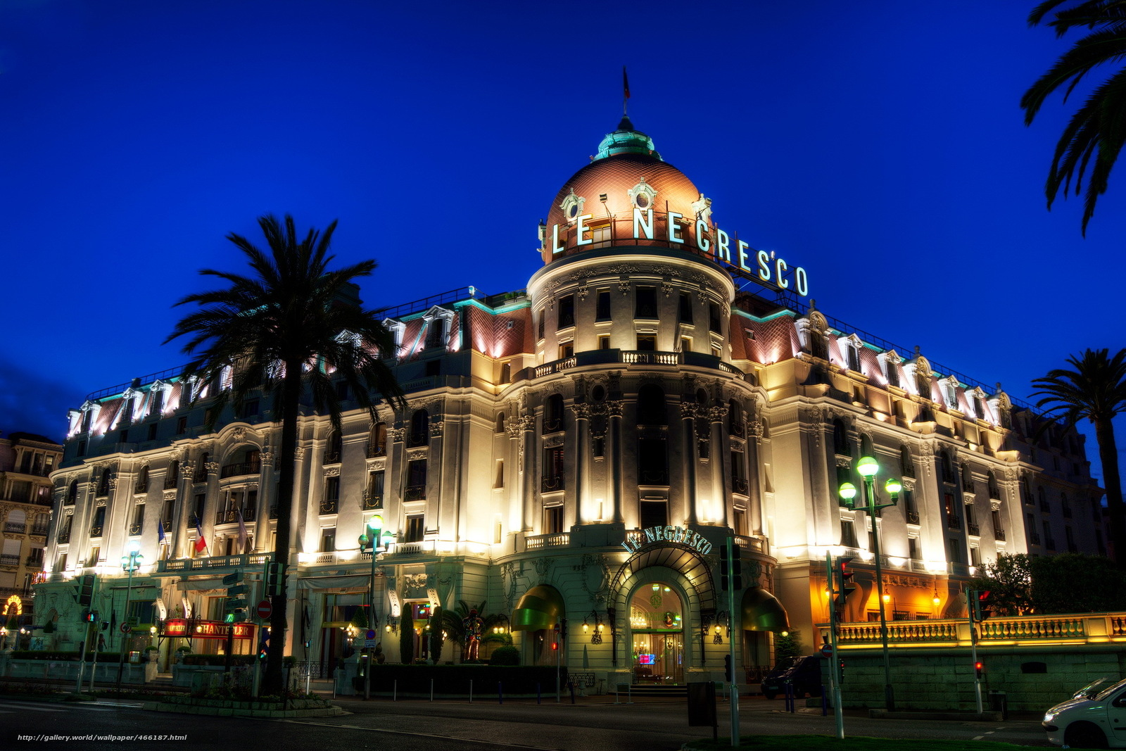 Download wallpaper france night city hotel free desktop for Hotel original france