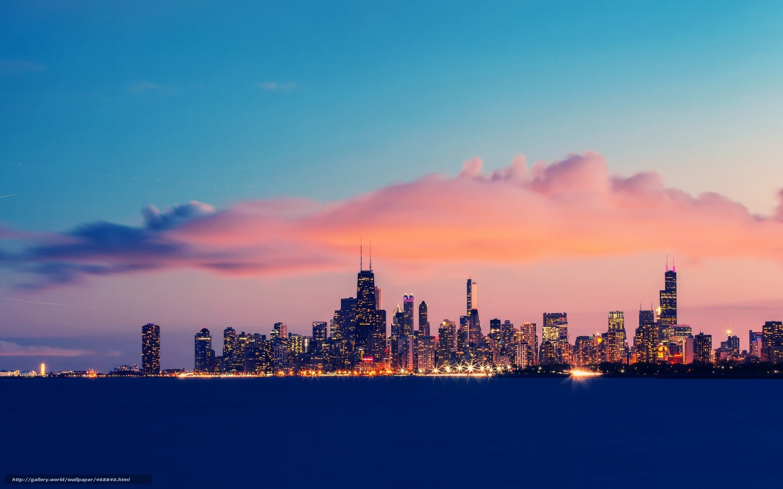 download wallpaper city chicago lake michigan exposure