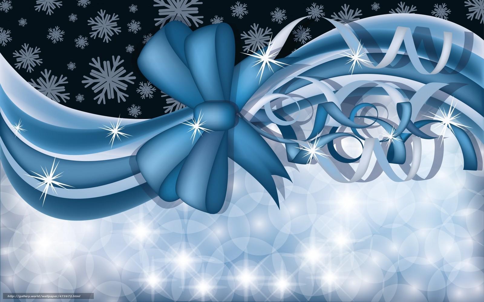 Tlcharger fond d 39 ecran arc ruban flocons de neige fonds for Fond d ecran gratuit joyeuses fetes