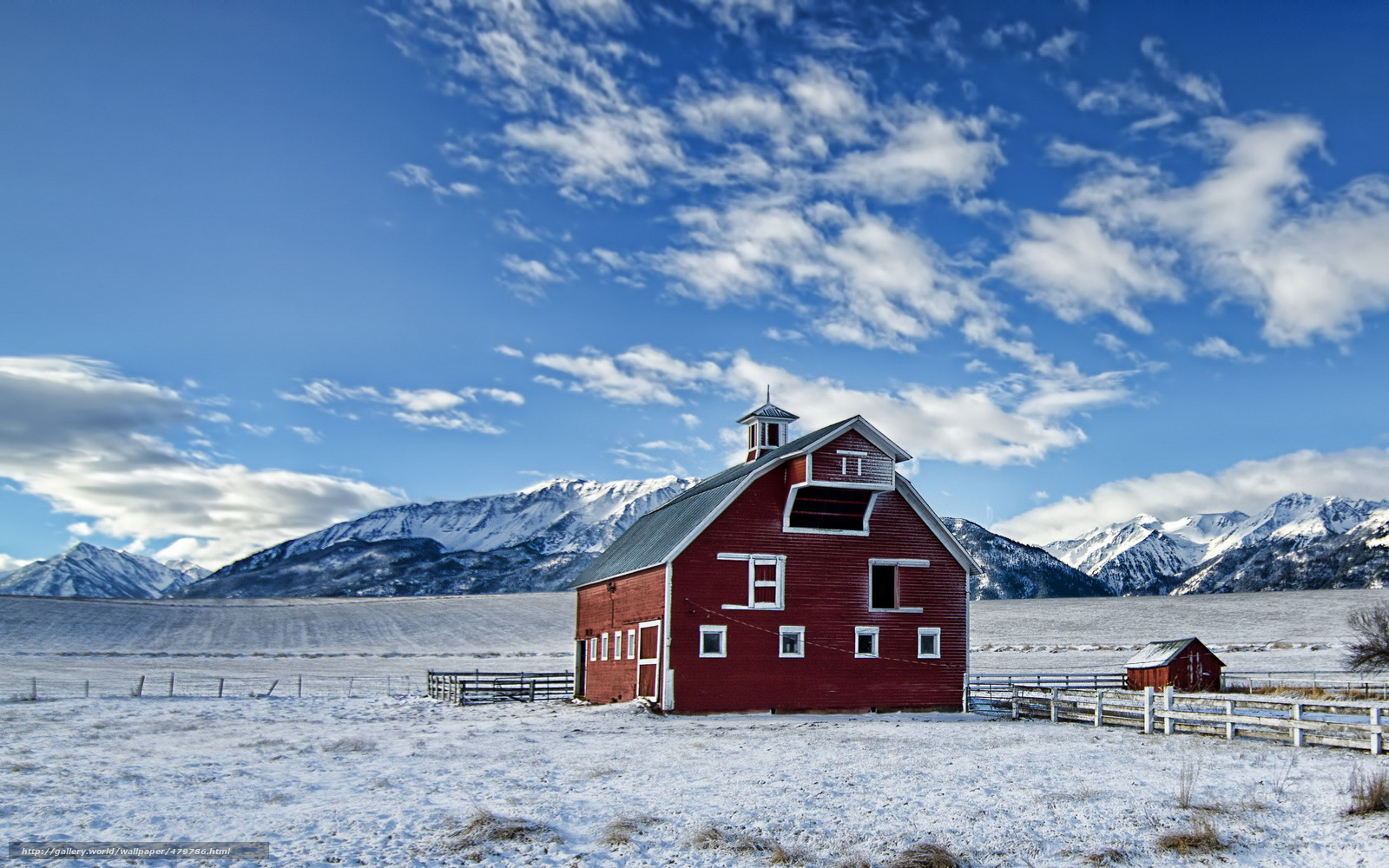 Scaricare gli sfondi inverno campo casa montagne sfondi for Sfondi gratis desktop inverno
