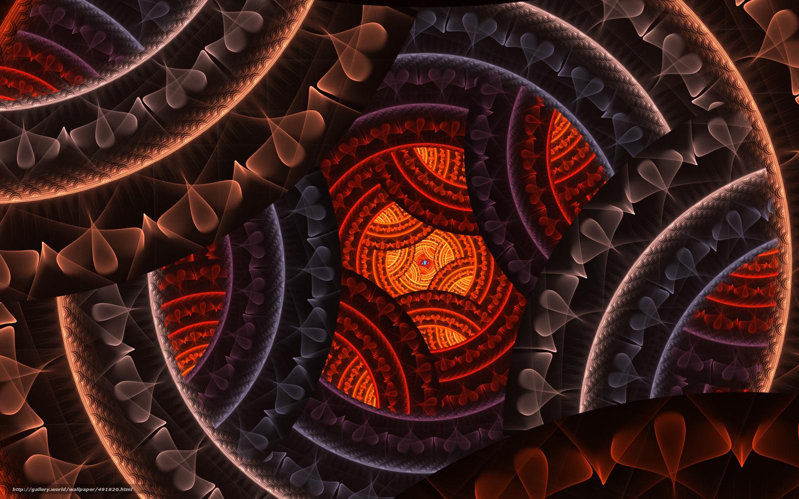 3d фон fractal digital art