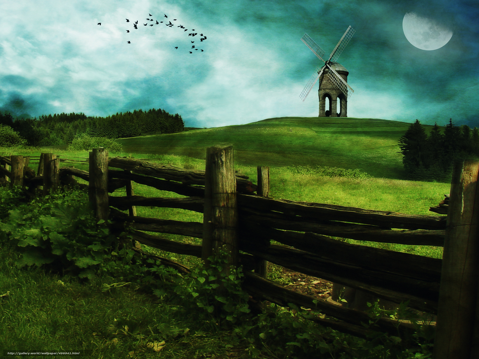 Download wallpaper field mill clouds fence free desktop wallpaper in the resolution 4000x3000 - Wallpaper 3000 x 4000 ...