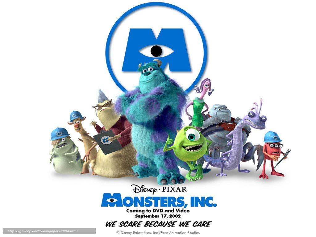 5056 korporaciya monstrov or monsters inc 1024x768 (www.gdefon.ru)